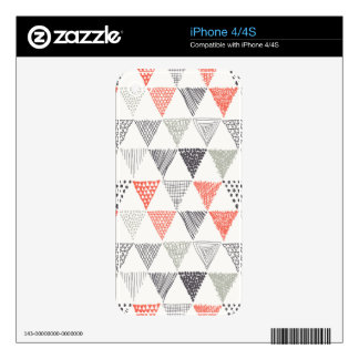 Sketchy Triangles Pattern #2 Skins For iPhone 4