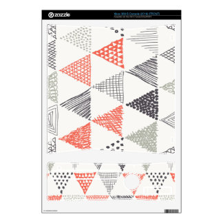 Sketchy Triangles Pattern #2 Xbox 360 S Skin