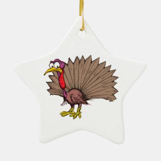 Sketchy Turkey Ceramic Ornament