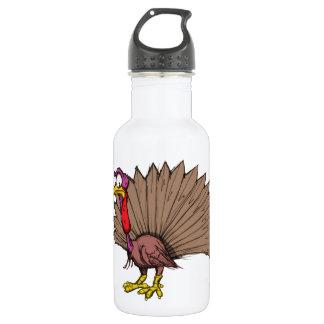 Sketchy Turkey Stainless Steel Water Bottle