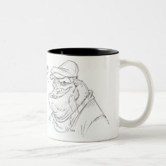 Sketchy Two-Tone Coffee Mug