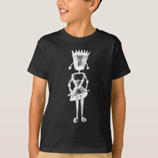 Sketchy White Abimbola Kids' T-shirt