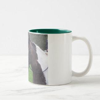 Skewbald pony mug