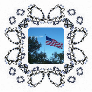 Skewed Fractal Art Flower Design Frame Photo Cutouts