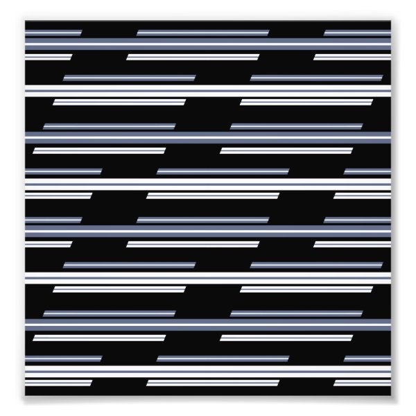 Skewed Stripes Pattern Design Photo Print