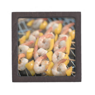 Skewer with grilled shrimps and pepper Sweden. Gift Box