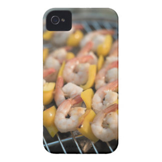 Skewer with grilled shrimps and pepper Sweden. iPhone 4 Covers