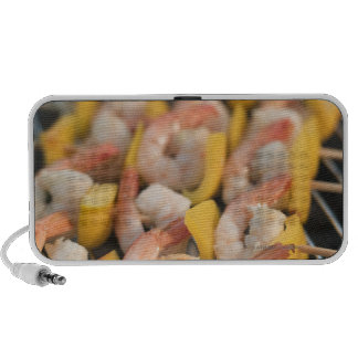 Skewer with grilled shrimps and pepper Sweden. Portable Speaker