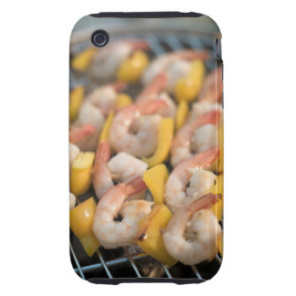 Skewer with grilled shrimps and pepper Sweden. Tough iPhone 3 Cover