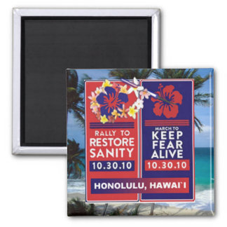 Skewered Lei 2 Inch Square Magnet