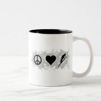Ski 1 Two-Tone coffee mug