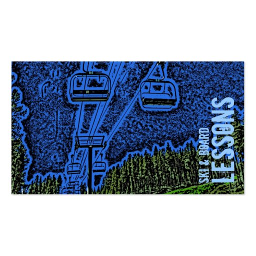 Ski and Board Lesson customizable business cards
