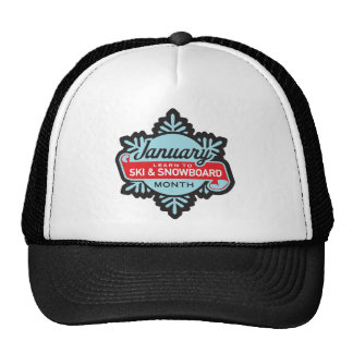Ski and Snowboard Month Hat