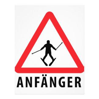 Ski Anfänger Warnschild icon Flyer