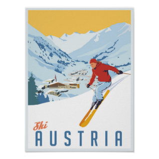 Ski Austria Poster at Zazzle