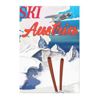 Ski Austria vintage travel poster Canvas Print