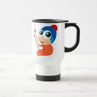 Ski Baby Cartoon Travel Mug