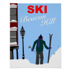 Ski Beacon Hill Boston Poster