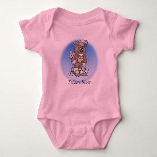 Ski Bear Baby Bodysuit