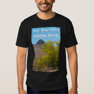 Ski Beautiful Nipple Rock T-shirt