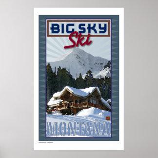 Ski Big Sky-Print Poster