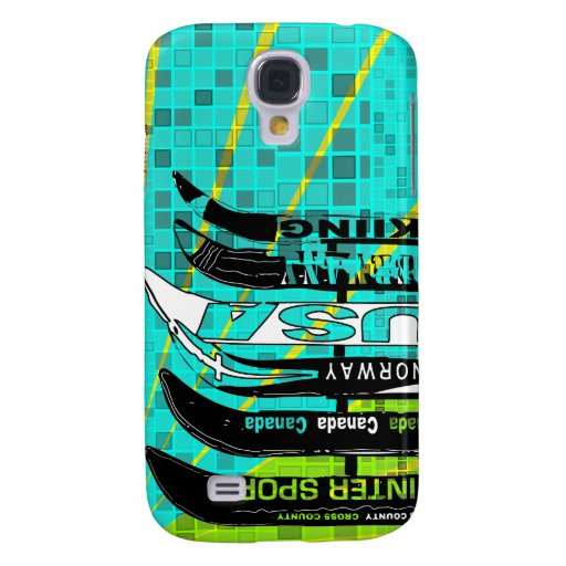 Ski Blade Speck Case Mosaic Blue Green Galaxy S4 Covers