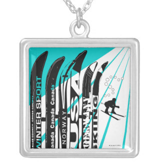 Ski Blade Winter Sport Necklace