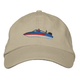 Ski Boat Embroidered Baseball Hat