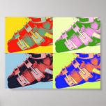 Ski boots pop art print