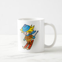 Ski boy coffee mug