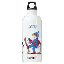 Ski boy personalized Sigg water bottle