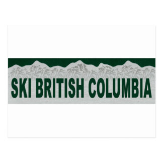 Ski British Columbia Post Card