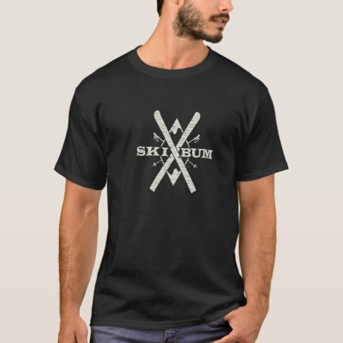 Ski Bum Dark T_Shirt