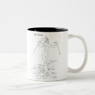 Ski Bum Two-Tone Coffee Mug
