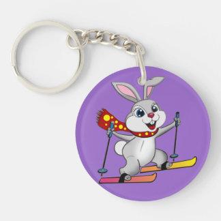 Ski Bunny - Funny and Cute Cartoon Keychain