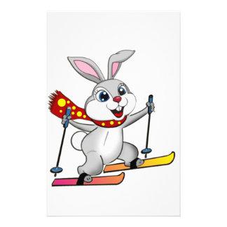 Ski Bunny - Funny and Cute Cartoon Stationery
