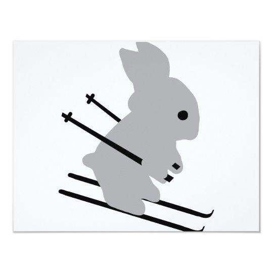 ski bunny icon card
