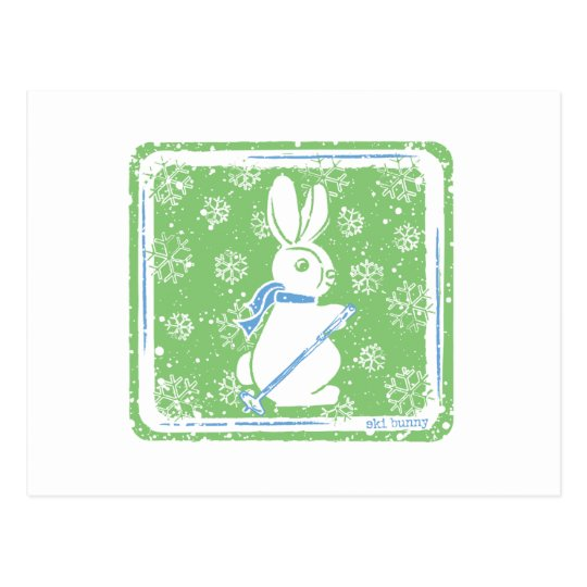 Ski Bunny Postcard