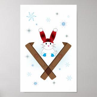 Ski Bunny Print