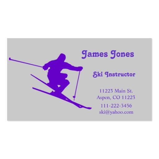 Ski Business Card
