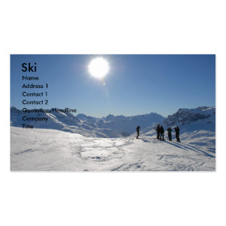 Ski Double-Sided Standard Business Cards (Pack Of 100)