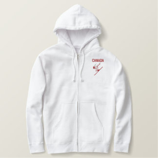 Ski Canada Custom Personalized Nation or Team Embroidered Hoodie