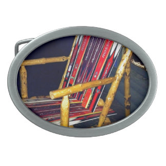 Ski Chair Cool Things to Make with Old Skis Oval Belt Buckle
