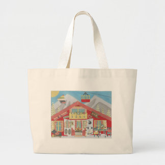 Ski Chalet Tote Bag Canvas Bags