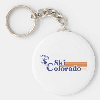 Ski Colorado (female) Keychain