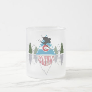Ski Colorado Frosted Glass Frosted Glass Coffee Mug