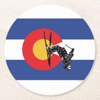 Ski Colorado Round Paper Coaster