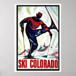 Ski Colorado US Vintage Travel Print