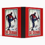Ski Colorado Vinyl Binder