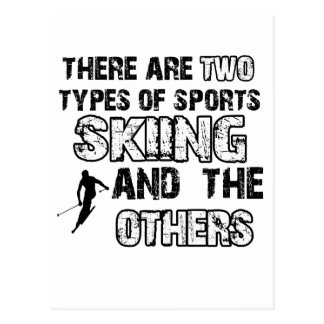 ski designs for lovers of the sport postcard